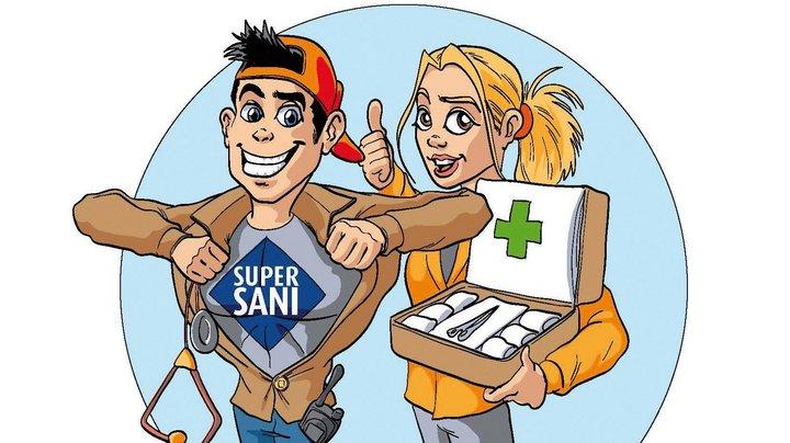 Logo des Landeswettbewerbs der Schüler-Sanitätsdienste