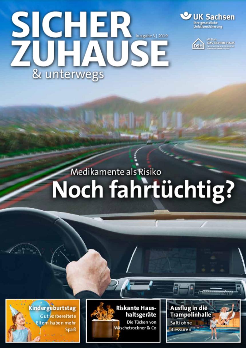 Titel von SICHER ZUHAUSE & unterwegs | Ausgabe 03/2019