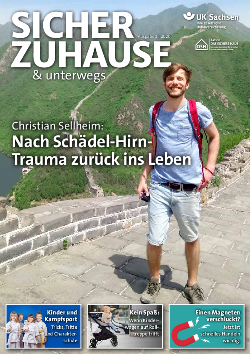 Titel von SICHER ZUHAUSE & unterwegs | Ausgabe 01/2020