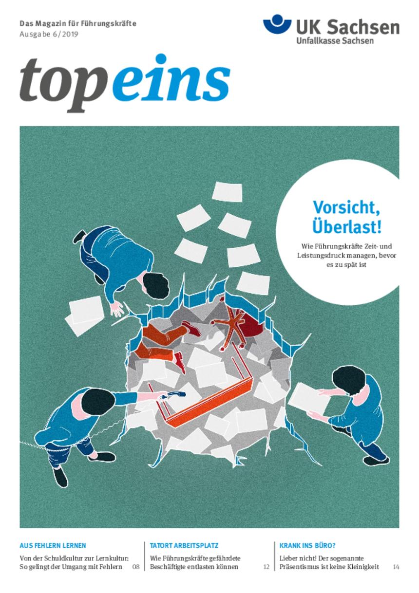 Titel vom topeins - Magazin für Führungskräfte | Ausgabe 06/2019