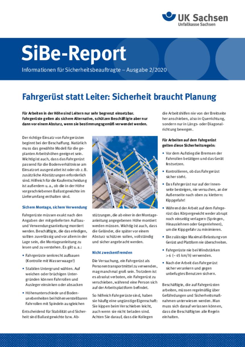 Titel vom SibeReport | Ausgabe 02/2020