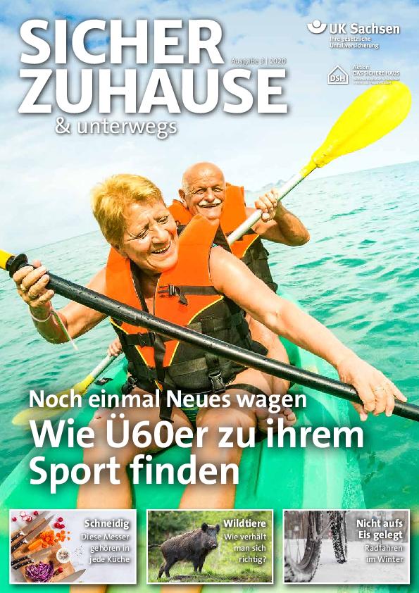 Titel von SICHER ZUHAUSE & unterwegs | Ausgabe 03/2020