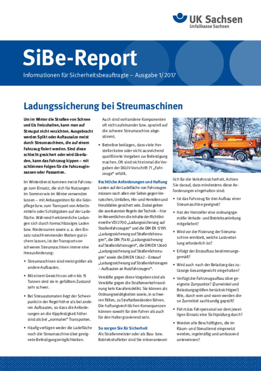 Titel vom SibeReport | Ausgabe 01/2017