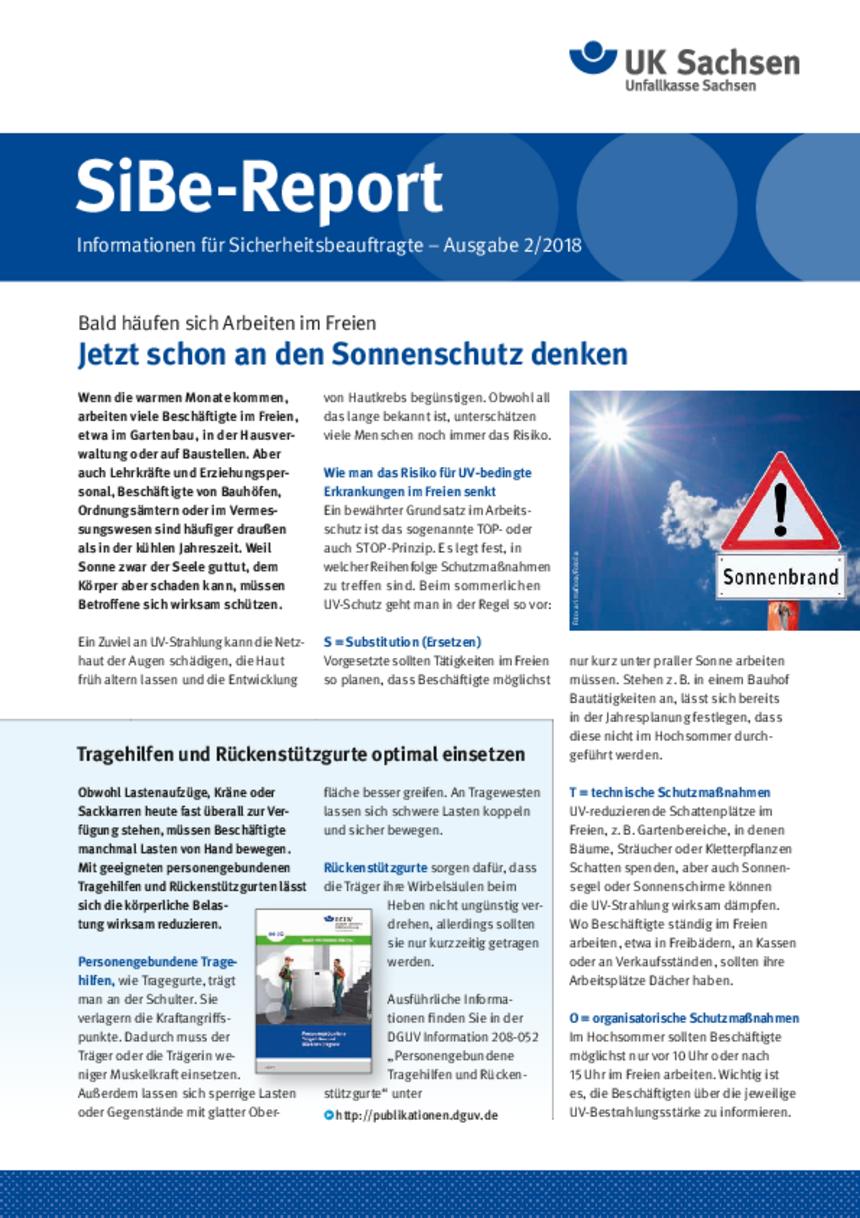 Titel vom SibeReport | Ausgabe 02/2018