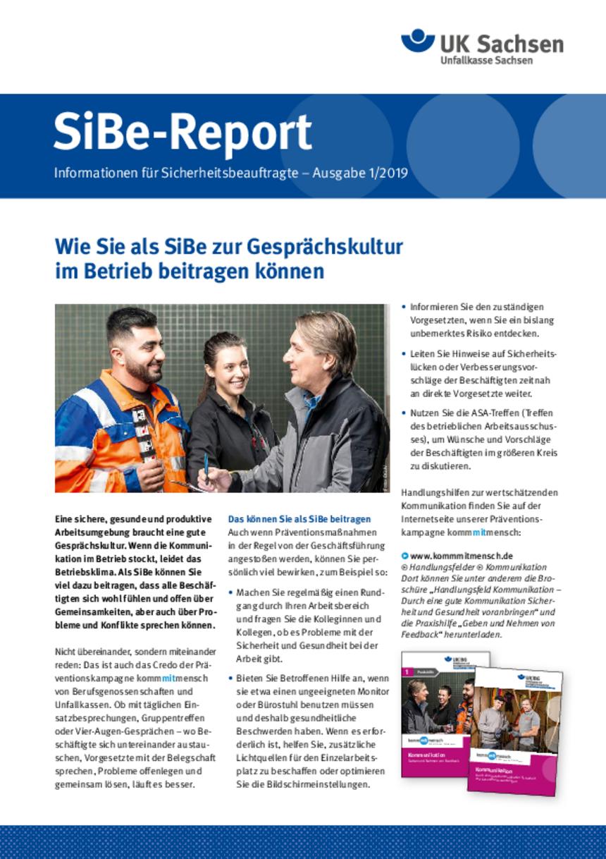 Titel vom SibeReport | Ausgabe 01/2019